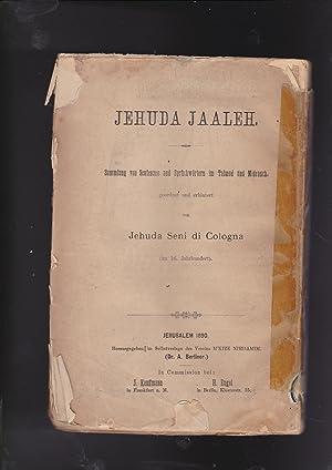 Sefer Yehudah ya'aleh: helek aleph kolel ma'amarim: Judah Seni, of