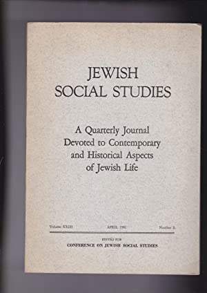 Jewish Social Studies: A Quarterly Journal Devoted: Baron, Salo W.,