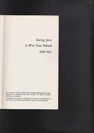 saving jews in War Torn Poland 1939-1945: Chciuk, Andrzeg, Editor