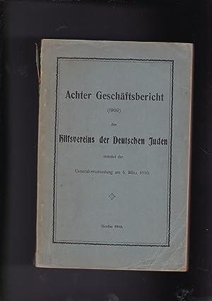 Achter Geschaftsbericht 1909 Des Hilfsvereins Der Deutschen