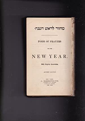 Form of prayers for the New Year