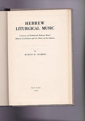Toldot ha-neginah veha-hazanut be-Yisra'el : kolel A.: Harris, Hyman H.