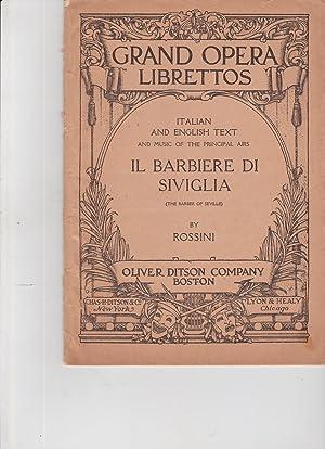Rossini's Opera Il Barbiere Di Siviglia (The: Libretto of Il