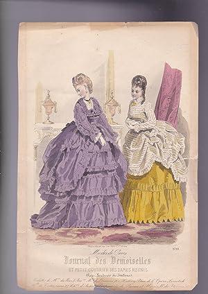 Print from Journal des Demoiselles. modes de