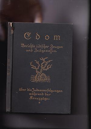 EDOM. Berichte jüdischer Zeugen und Zeitgenossen über: Transl. from the