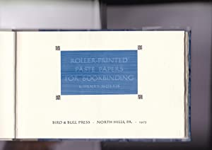 Roller-Printed Paste Papers for Bookbinding: Morris, Henry
