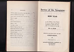 Service of the Synagogue NEW YEAR MAKHZOR: Adler,H., editor