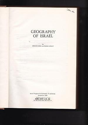 Geography Of Israel: Orni, Efraim &