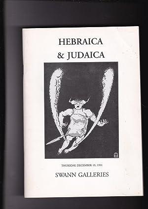 Swann Galleries Hebraica & Judaica Public Auction