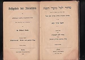 Mahzor le-Kol Moade Ha-shanah. Helek T'shi'i kolel: Sachs, Michael, neu
