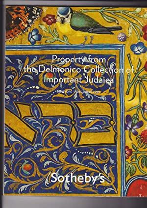 Sotheby's Judaica. Property from the Delmonico Collection