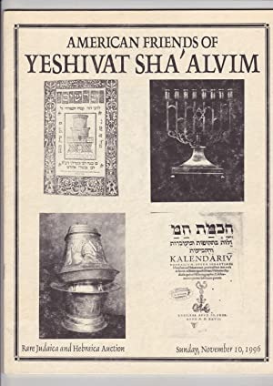 Rare Judaica and Hebraica Auction sunday, November: American Friends of