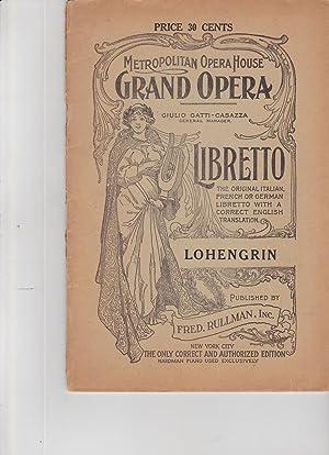 Metropolitan Opera House Grand Opera Giulio Gatti-Casazza,: libretto, opera]