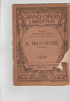 Grand Opera Librettos Italian and English text: libretto, opera]