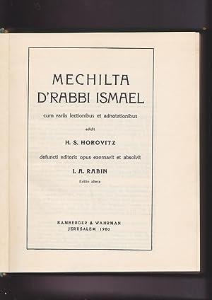 Mechilta d' Rabbi Ismael Cum variis lectionibus: edidit H.S. Horovitz.