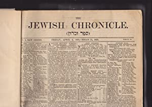 The Jewish Chronicle, New Series. Volumes 1, 2, 3: the Jewish Chronicle