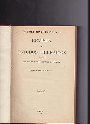 Revista de estudos hebráicos. Director: Moses Bensabat Amzalak. Vol. I [all published].