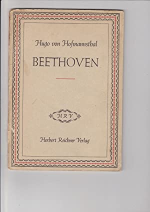 Beethoven. Rede, gehalten an der Beethovenfeier des: Hofmannsthal, Hugo Von;