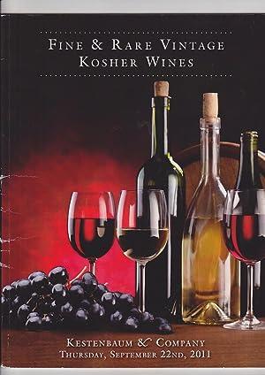 FINE AND RARE VINTAGE KOSHER WINES. Kestenbaum: Kestenbaum