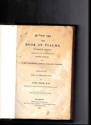 Sefer Tehilim The BOOK OF PSALMS, without: Reid, John, M.D.,