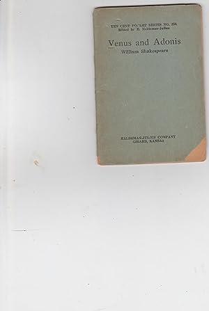 Venus and Adonis, Ten Cent Pocket Series: William Shakespeare. Edited