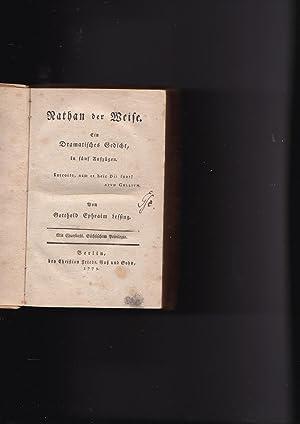 Nathan der Weise Ein Dramatisches Gedicht, in: Lessing, Gotthold Ephraim;