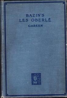 Les Oberle Par Rene Bazin: Cabeen, Charles, W.