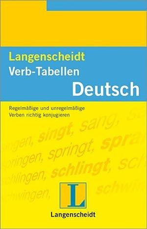 Langenscheidt Verb-Tabellen Deutsch: F. Wendt, Heinz
