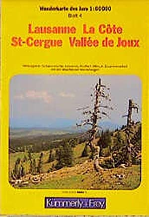 Jura 4 Lausanne-La Cote Cergue Hiking Map