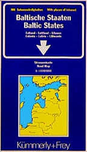 Kümmerly & Frey Karten, Baltische Staaten: Estonia, Latvia and Lithuania (International Road Map)