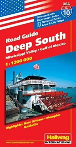 Hallwag USA Road Guide, No.10, Deep South (Hallwag Strassenkarten)