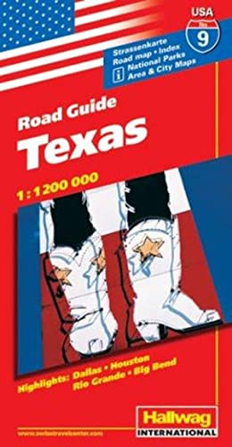 Hallwag USA Road Guide, No.9, Texas (Hallwag Strassenkarten)