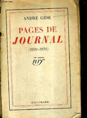 PAGES DE JOURNAL (1929-1932)