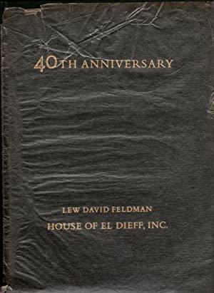 1975 Fortieth Anniversary Catalogue Containing Forty Selections: Lew David Feldman