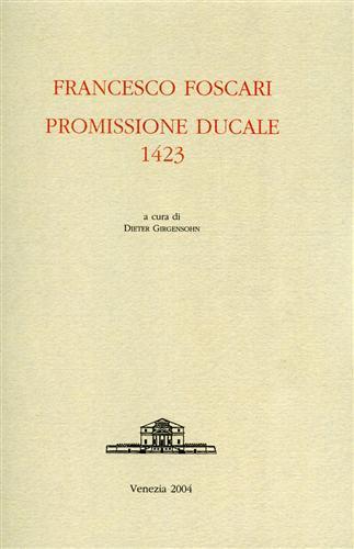 Promissione ducale 1423.: Foscari,Francesco.