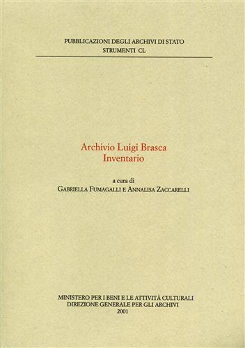 Archivio Luigi Brasca. Inventario.