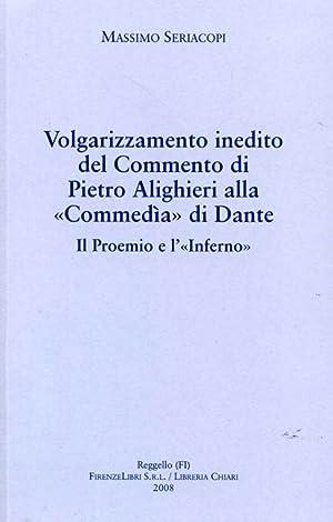 """""""Volgarizzamento inedito del Commento di Pietro Alighieri alla """"Commedìa"""" di ..."""