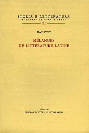Mélanges de littérature latine.: Bayet,Jean.