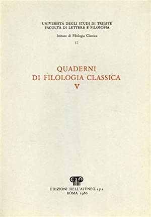 Quaderni di filologia classica.n.5.: Stella,L.A. Fabbro,E. Puppini,P.e