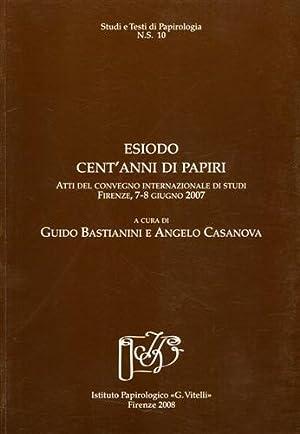 Esiodo: cent'anni di papiri.: Atti del Convegno Internaz.di Studi: