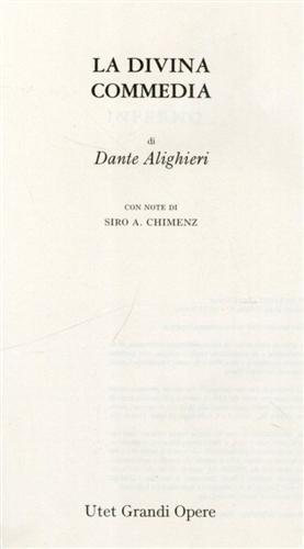 Divina Commedia.: Dante.
