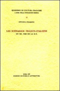 Les scenarios franco-italiens du MS.9329 de la: Colajanni,Giuliana.