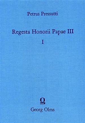 Regesta Honorii Papae III.: Pressutti,Petrus. (Sac.).