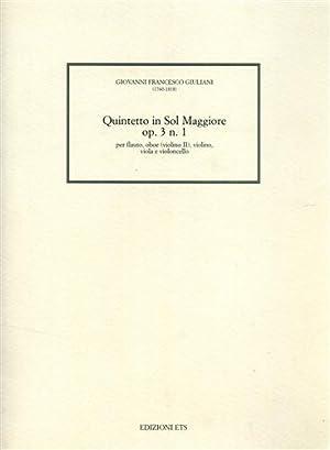 Quintetto in Sol Maggiore op.3 n.1. Per: Giuliani,Giovanni Francesco (1760-