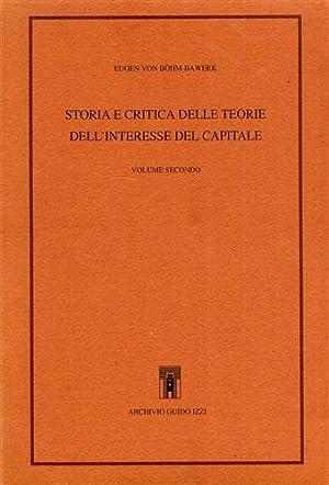 Storia e critica delle teorie dell'interesse del capitale. Vol.II. Dall'Indice: Le teorie...