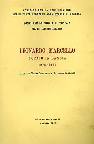 Leonardo Marcello notaio in Candia.1278-1281.
