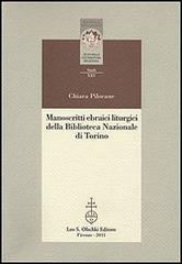 Manoscritti ebraici liturgici della Biblioteca Nazionale di Torino. Identificazione, ricomposizione...