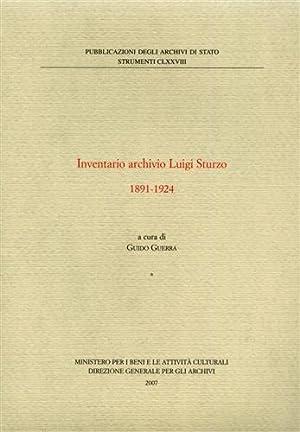 Inventario Archivio Luigi Sturzo 1891-1924.: Guerra,Guido. (a cura di).