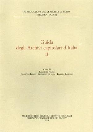 Guida degli Archivi Capitolari d'Italia. vol.II.: Palese,Salvatore. De Luca,Francesco. ...