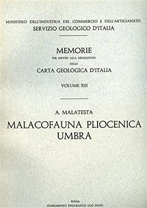 Malacofauna pliocenica umbra.: Malatesta,Alberto.